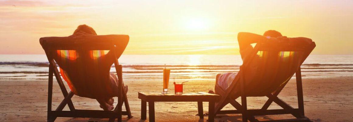 Chillen in strandstoel