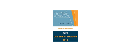 Dutch Corporate Finance Association Deal of the year 2013 Award