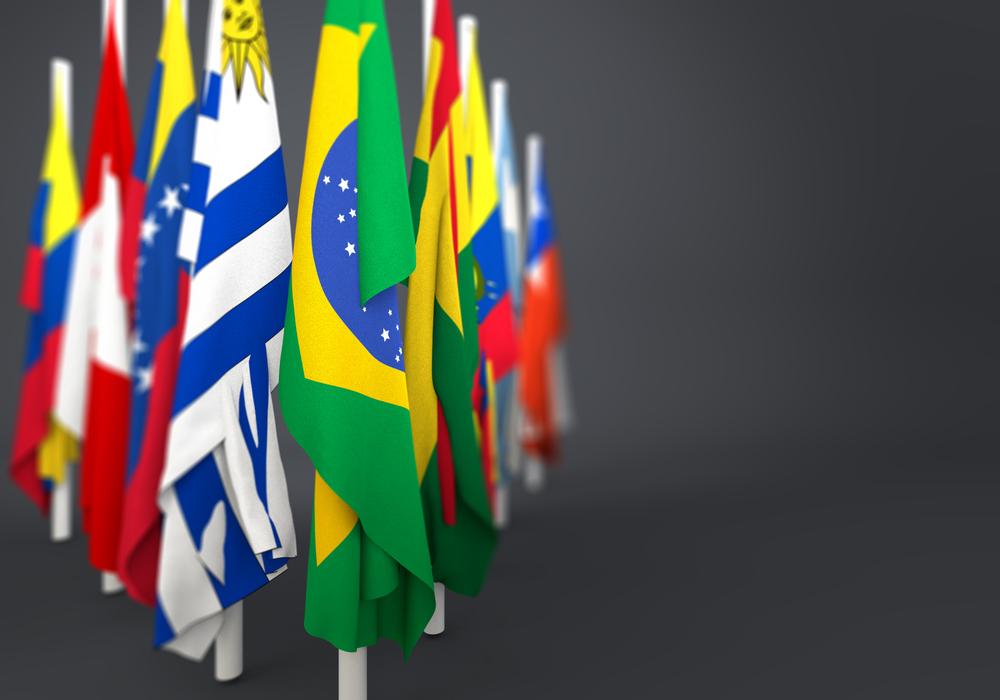 vlaggen latijns amerika op een rij